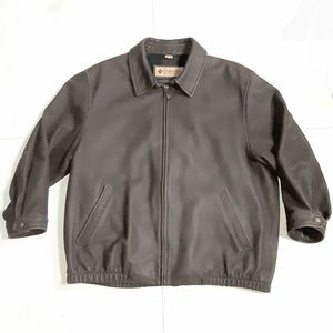 Columbia Flannel Lined Leather Jacket Size 2XT